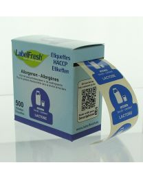 LABELFRESH etiketten 70x45mm LACTOSE - LFALLERGLACTOSE