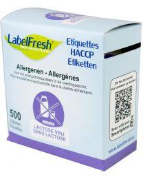 LABELFRESH etiketten 70x45mm LACTOSE VRIJ-SANS LACTOSE - LFALLERGLACTOSEVRIJ