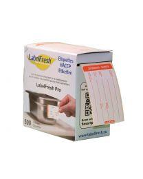 LABELFRESH etiketten PRO 70x45mm ZATERDAG-SAMEDI - LFPROZASA