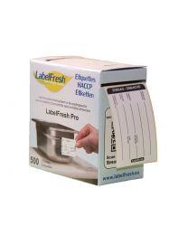 LABELFRESH etiketten PRO 70x45mm ZONDAG-DIMANCHE - LFPROZODI