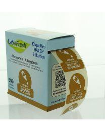 LabelFresh etiketten-70x45mm-ALLERGENEN - MOSTERD - LFALLERGMOSTERD