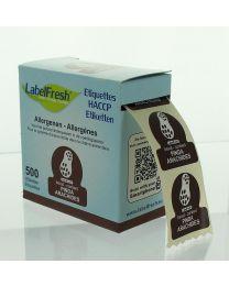 LabelFresh etiketten-70x45mm-ALLERGENEN - PINDA - LFALLERGPINDA