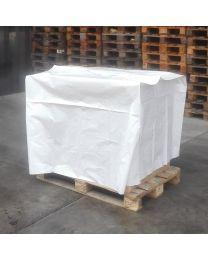 Afdekhoes LOS WIT OPAAK LDPE 100my 125+(2x55)x85cm - L12511085100L