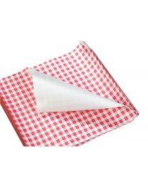 Duplex papier vellen GERECYCL VIPAP WIT 60gr/m²+HDPE 6my 33x33cm VICHY ROOD