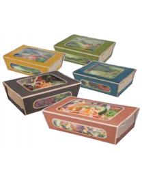 Saladbox karton grijs 200x120x50mm 1000ml scharnierdeksel - CO01SP2TCS