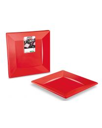 Presenteerbord PS QUADRIPACK rood 238x238x20mm  - ACF240RG