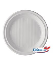 Bord PS wit rond 205mm plat - DO1234