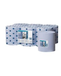 Tork Wiping Paper Centerfeed Roll Blue 20cmx320m - M2 - TORK128208