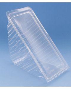 Sandwich verpakking RPET 183x87x78mm scharnierdeksel 4st - T21736