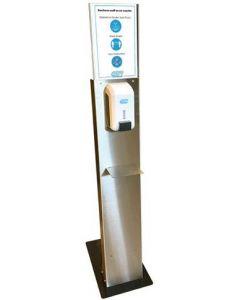 DIPP N°8085 inox totem + Dispenser 700ml 1stuk (8085)