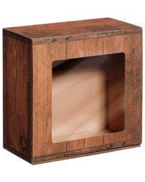 Geschenkbox met venster VINTAGE  190x200x95mm