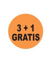 ETIKET ROND diam 4cm FLUO-ORANJE- DRUK 3+1 GRATIS - ER431GRATIS