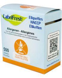LABELFRESH etiketten 70x45mm GLUTEN VRIJ-SANS GLUTEN - LFALLERGGLUTENVRIJ