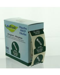 LABELFRESH etiketten 30x30mm SELDERIJ-CELERI - LFALLERGSELDERIJ
