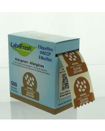 LabelFresh etiketten-30x30mm-ALLERGENEN - SESAM - LFALLERGSESAM