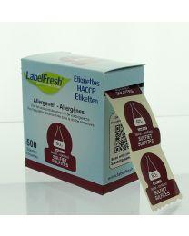 LabelFresh etiketten-30x30mm-ALLERGENEN - SULFIET - LFALLERGSULFIET