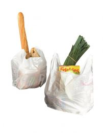 Draagtas Shopper WIT HDPE 10my 20+10x40cm - S20104010