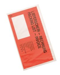 Packing Lists 225x160mm 60my opdruk PL invoice rood+venster - PL1121PLINV60