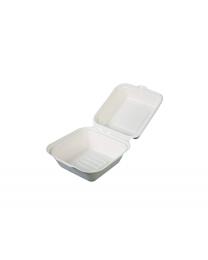 Hamburgerbox bagasse 307.5x152.4x49.6mm - GGH6