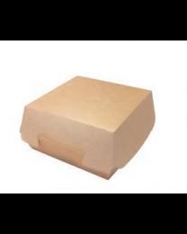 Hamburger box karton kraft 140x140x70mm scharnierdeksel