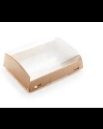Combi Show box karton kraft 185x140x55mm 1000ml + PET deksel