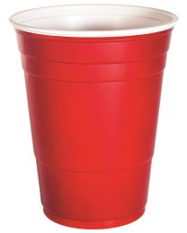 Drinkbeker PS PARTY CUPS rood 98.5x102.1mm 455ml C&C - P16RLR