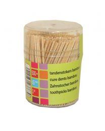 Tandenstokers Bamboe 65mm/1pt (ovp potjes van 500 st) - TB1500
