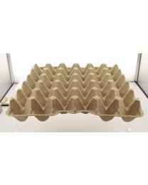 Eiverpakking pulp tray FUTURA 15.5 grijs voor 30 eieren - L15150