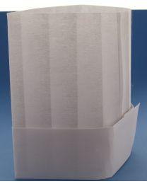 Papieren Muts WIT met glijdende sluiting - PAPCAP