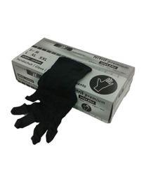 Handschoenen NITRIL ZWART X-LARGE Niet-gepoederd 4,0 gr