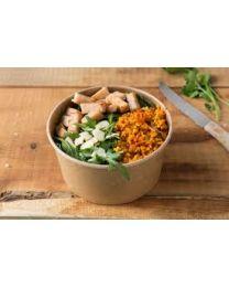 Fond Emballage Salade 2000 ml  kraft brun